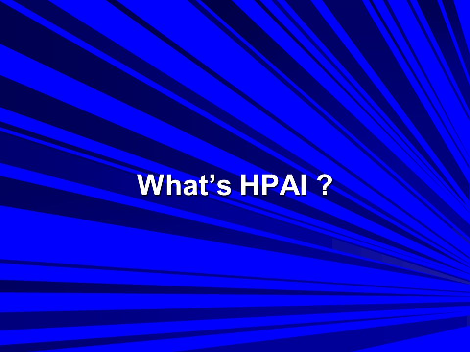 What's HPAI