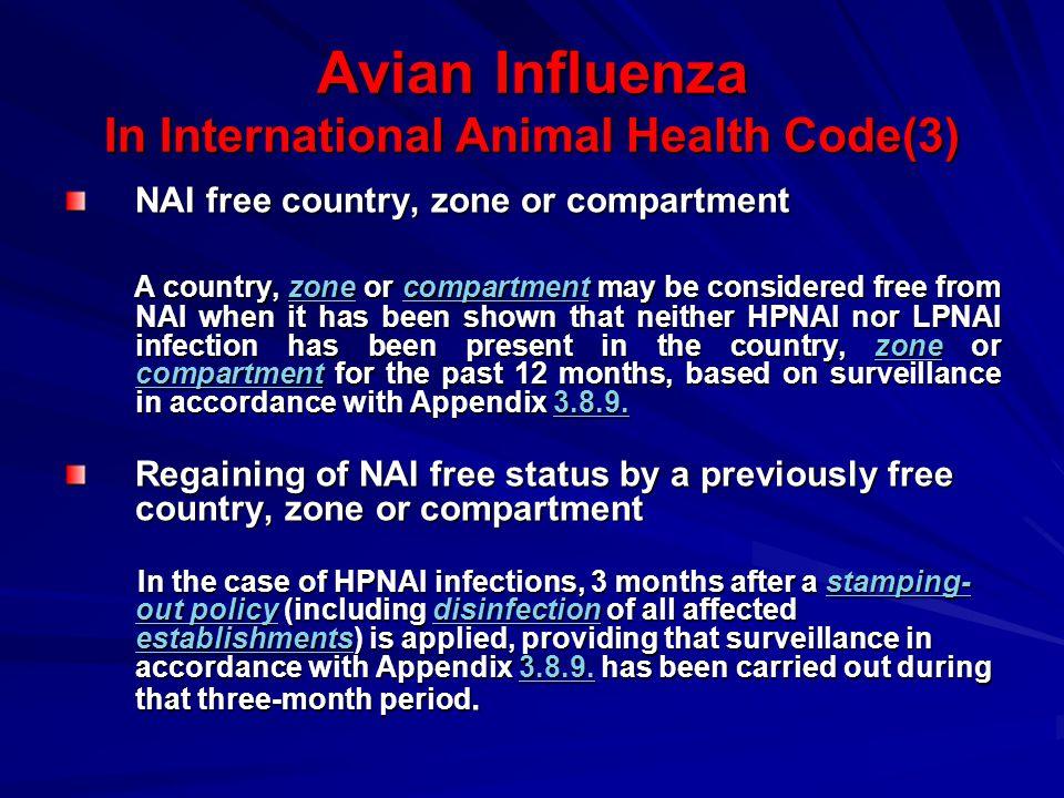 Avian Influenza In International Animal Health Code(3)