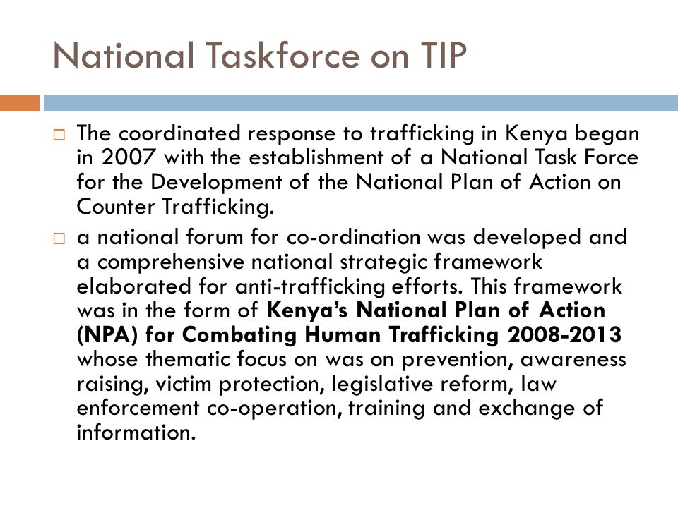 National Taskforce on TIP