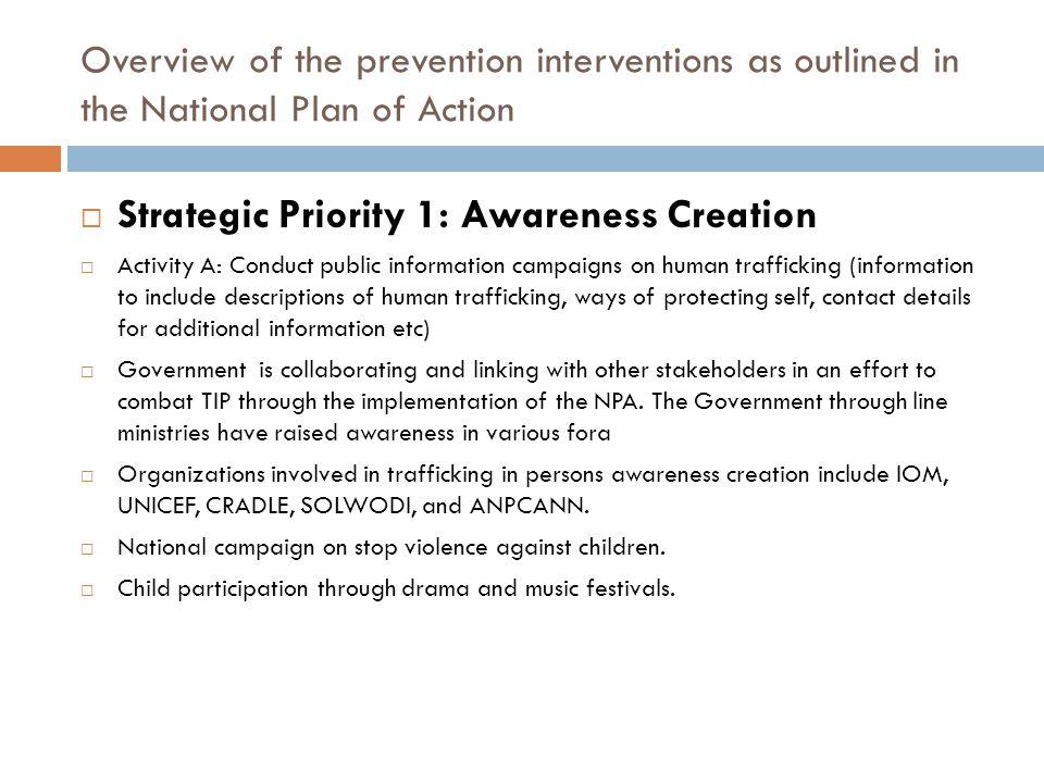 Strategic Priority 1: Awareness Creation
