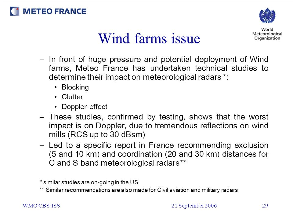 Wind farms issue