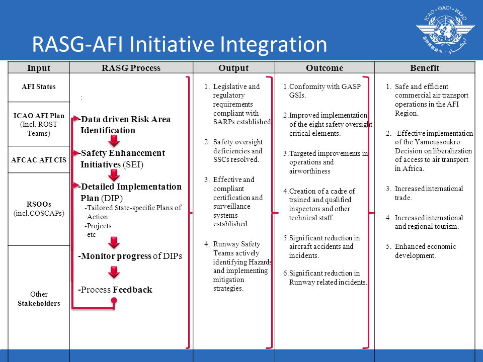 RASG-AFI Initiative Integration