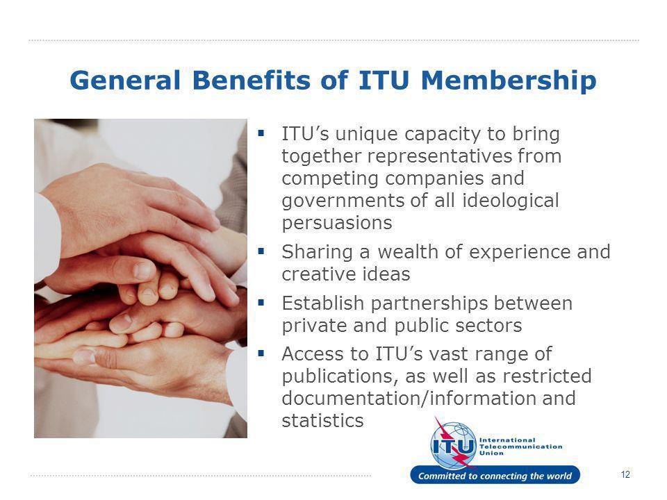 General Benefits of ITU Membership