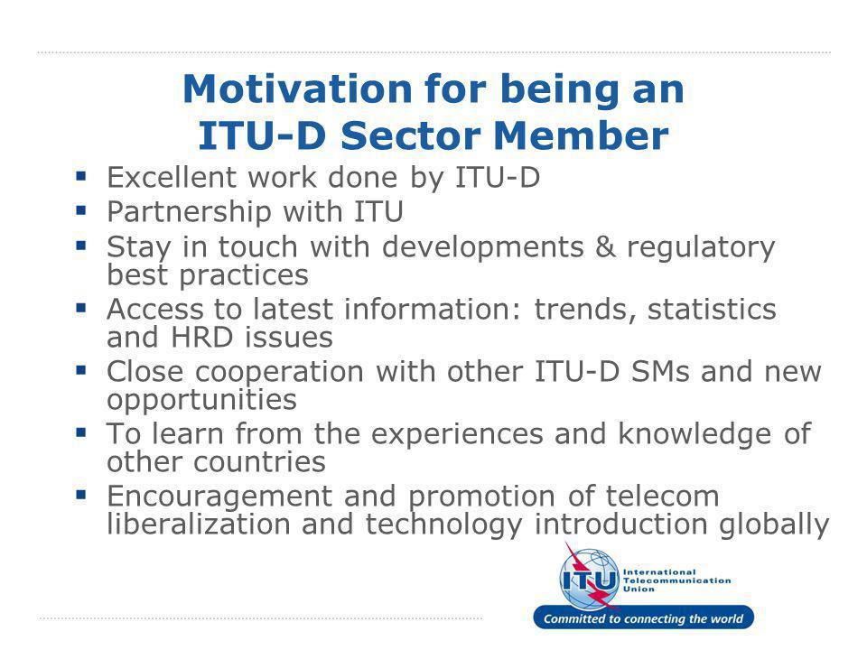 Motivation for being an ITU-D Sector Member