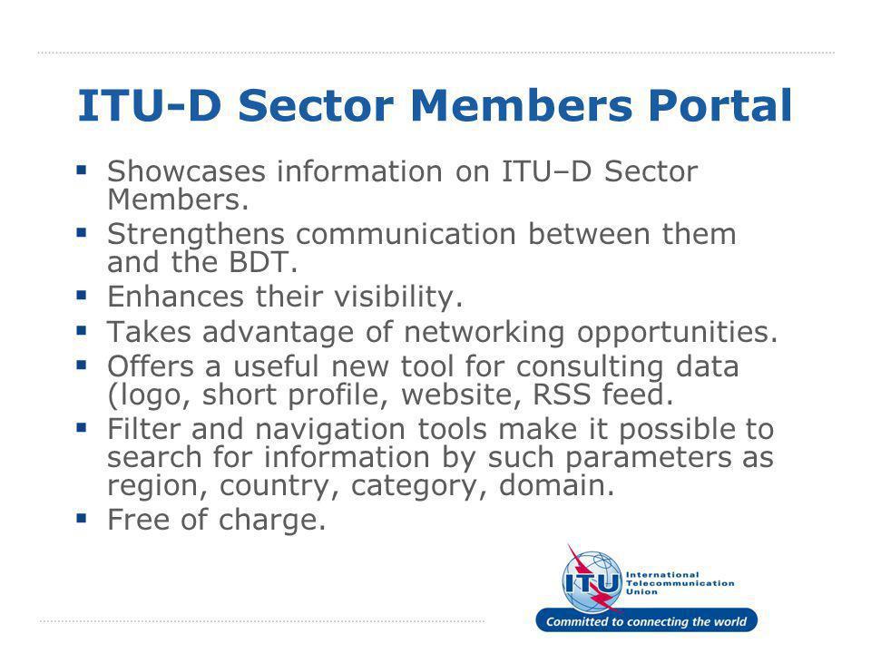 ITU-D Sector Members Portal