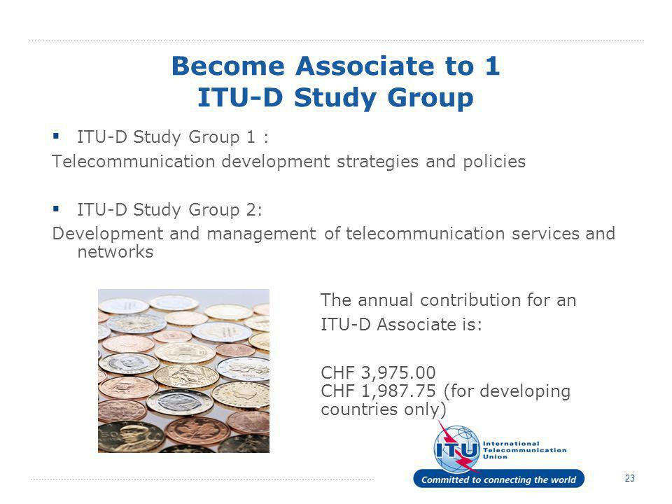 Become Associate to 1 ITU-D Study Group
