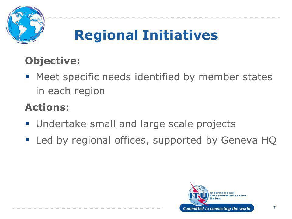 Regional Initiatives Objective: