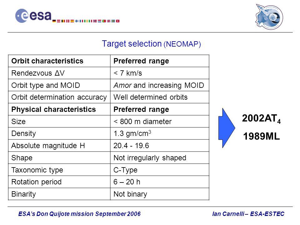 Target selection (NEOMAP)
