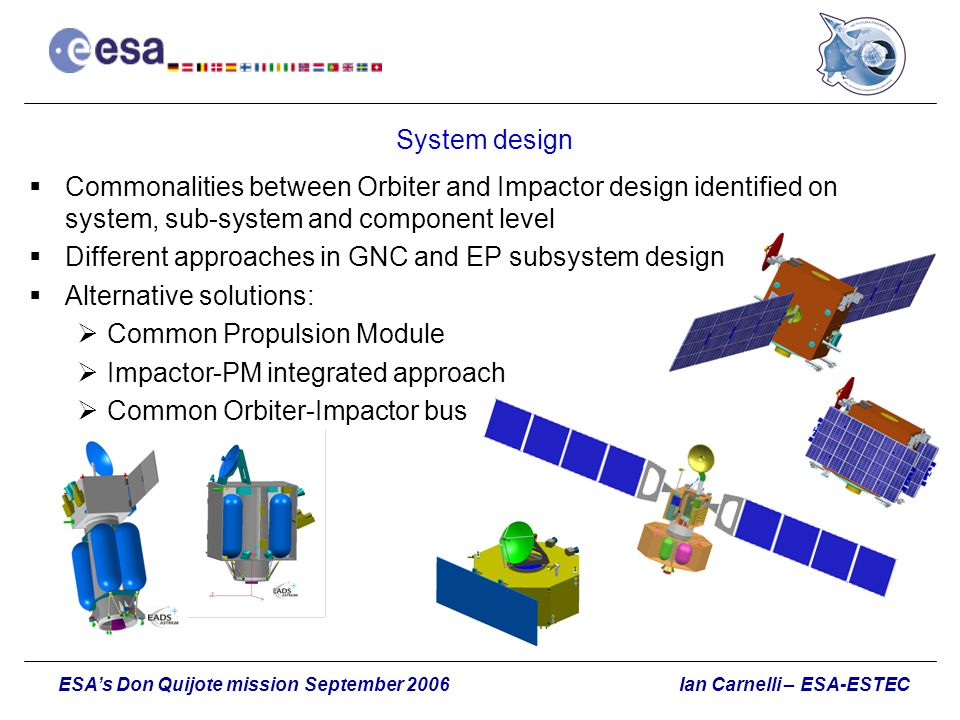 Different approaches in GNC and EP subsystem design