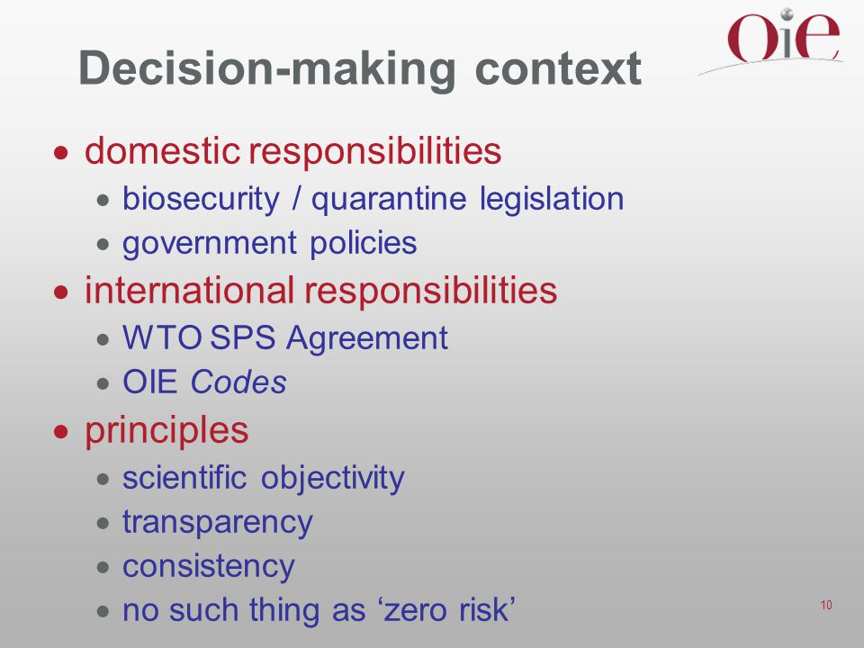 Decision-making context