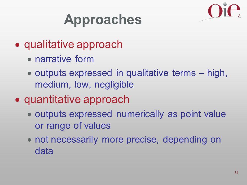 Approaches qualitative approach quantitative approach narrative form