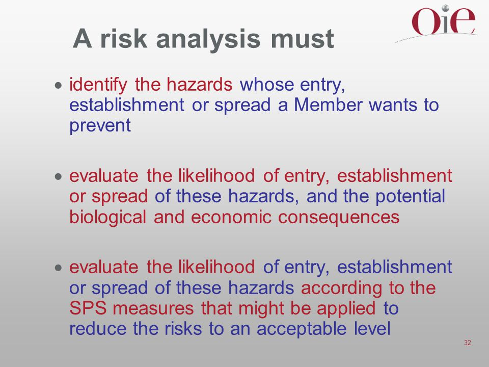 A risk analysis must identify the hazards whose entry, establishment or spread a Member wants to prevent.