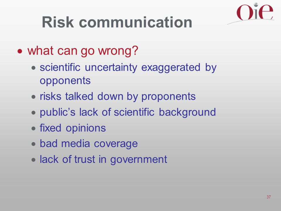 Risk communication what can go wrong