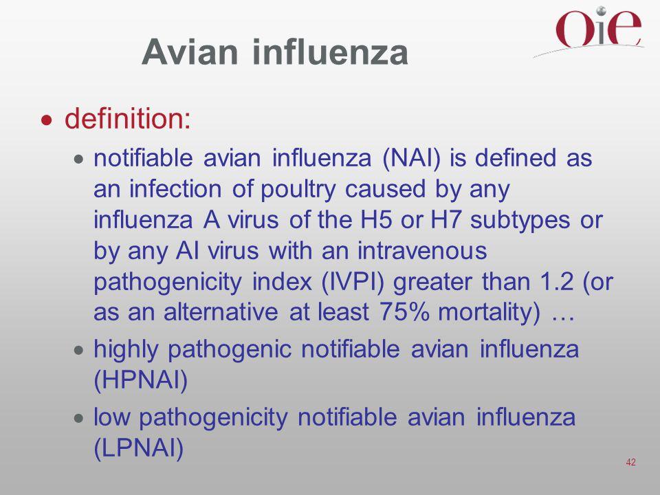 Avian influenza definition: