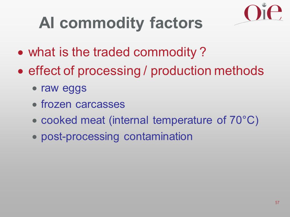 AI commodity factors what is the traded commodity