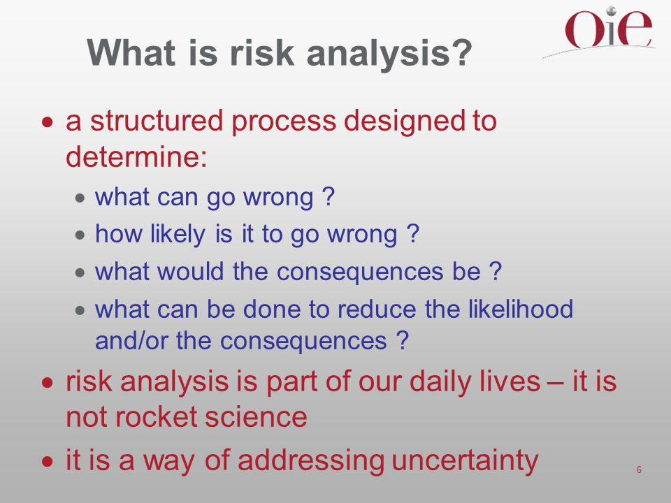 What is risk analysis a structured process designed to determine: