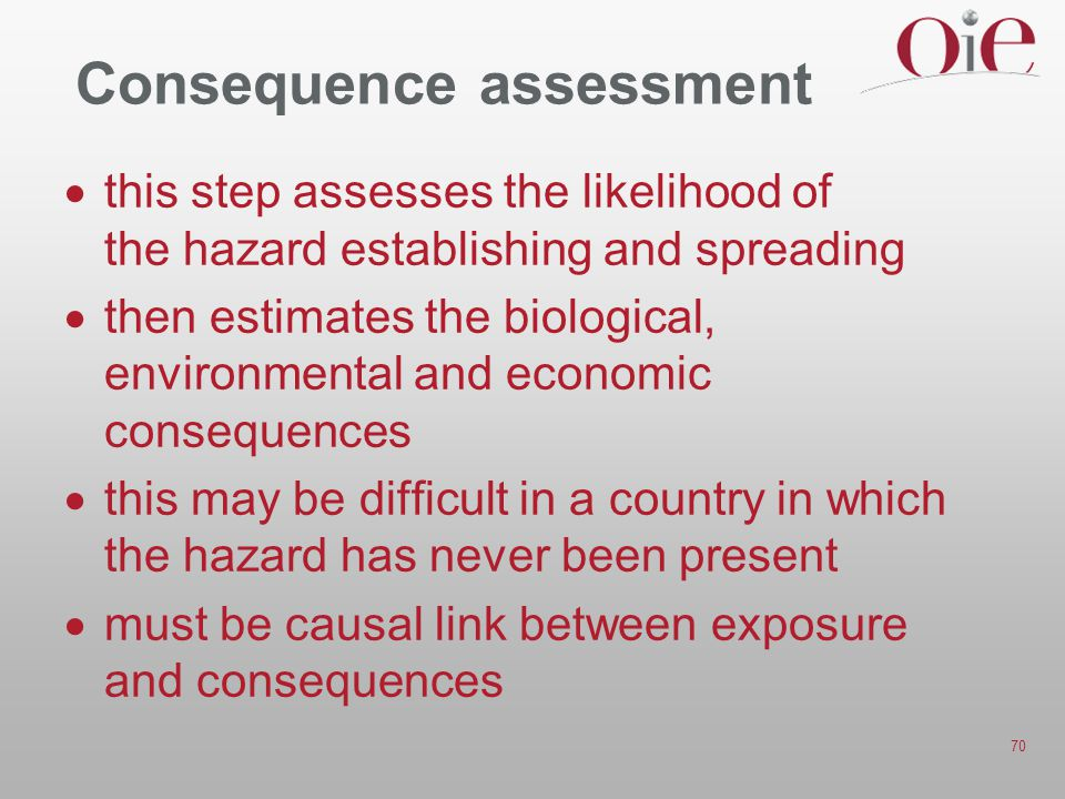 Consequence assessment