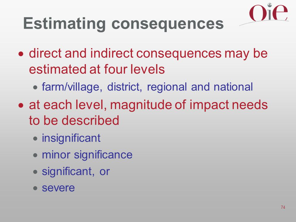 Estimating consequences