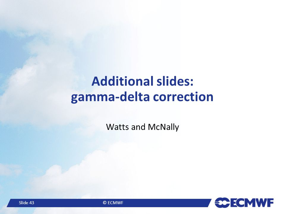 Additional slides: gamma-delta correction