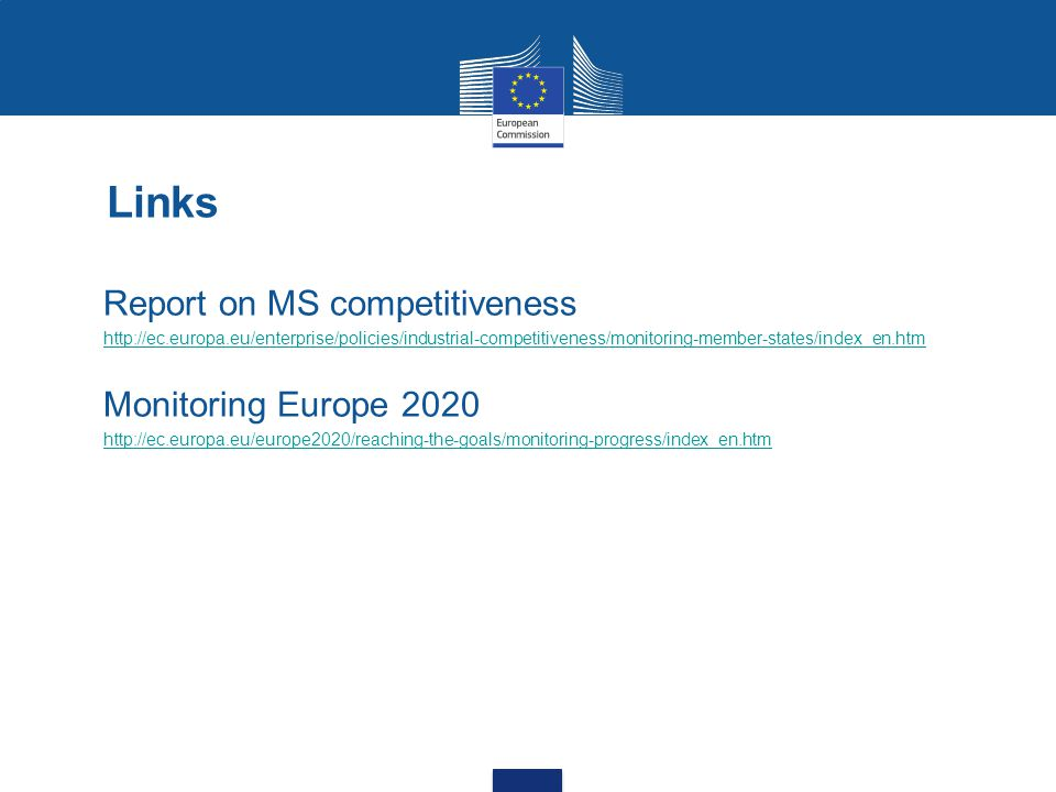 Links Report on MS competitiveness Monitoring Europe 2020