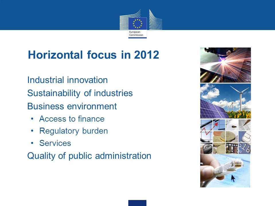 Horizontal focus in 2012 Industrial innovation