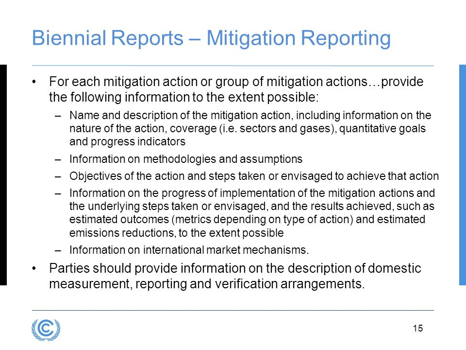 Biennial Reports – Mitigation Reporting
