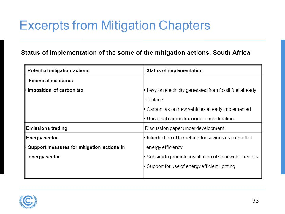 Excerpts from Mitigation Chapters
