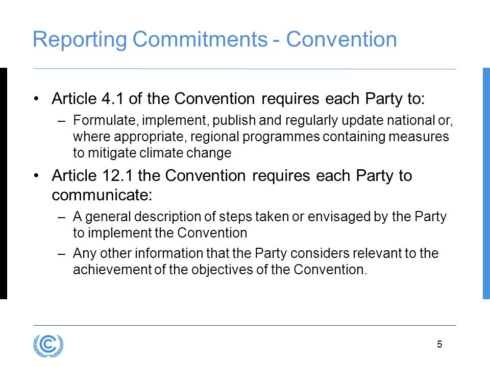 Reporting Commitments - Convention