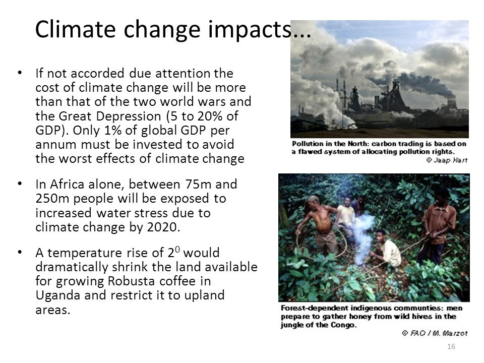 Climate change impacts...