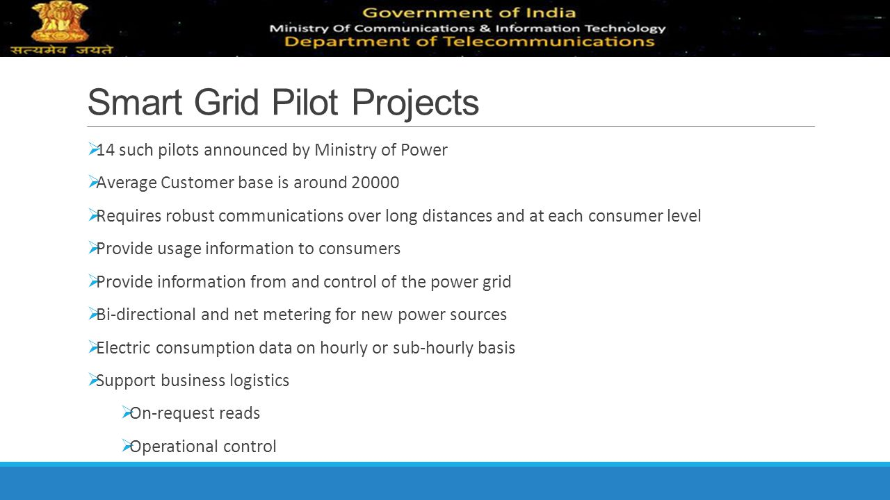 Smart Grid Pilot Projects