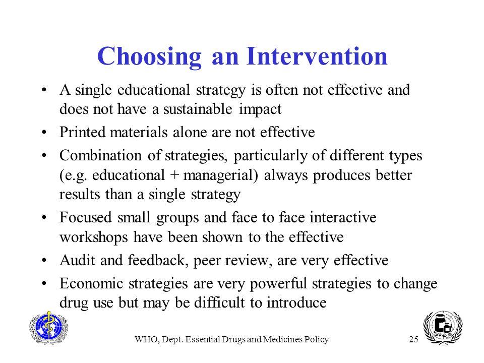 Choosing an Intervention