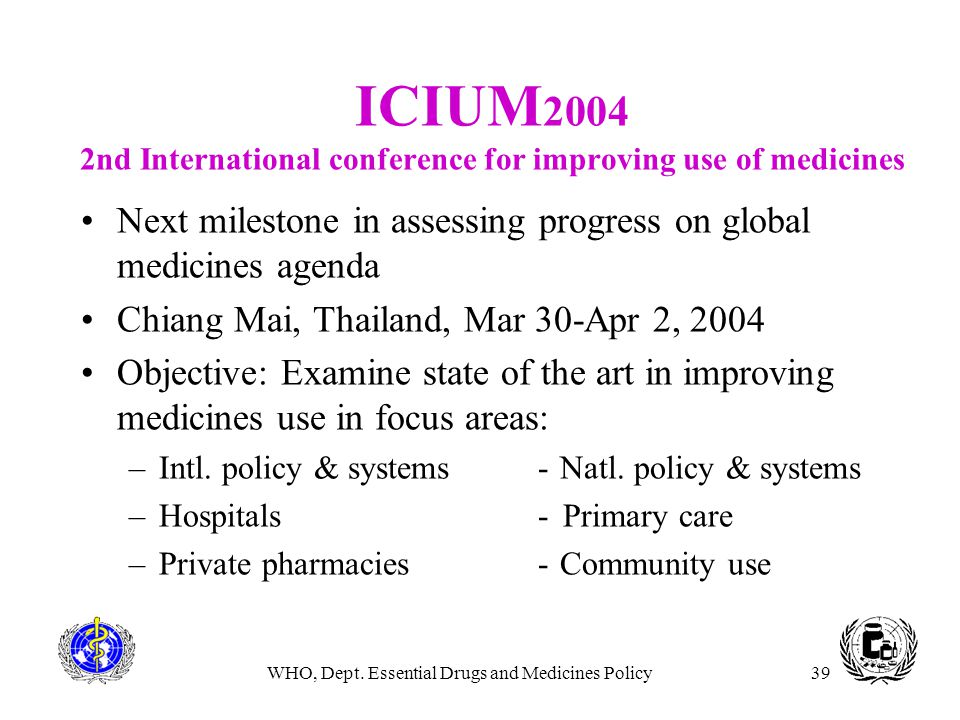 ICIUM2004 2nd International conference for improving use of medicines