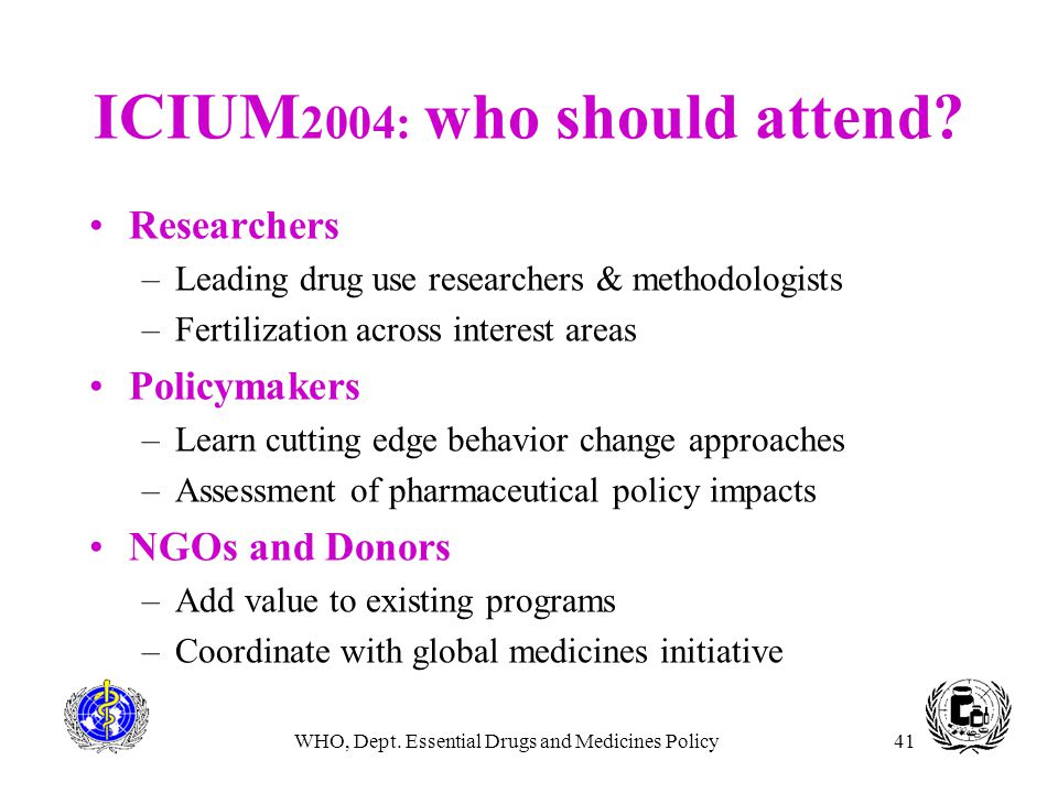 ICIUM2004: who should attend