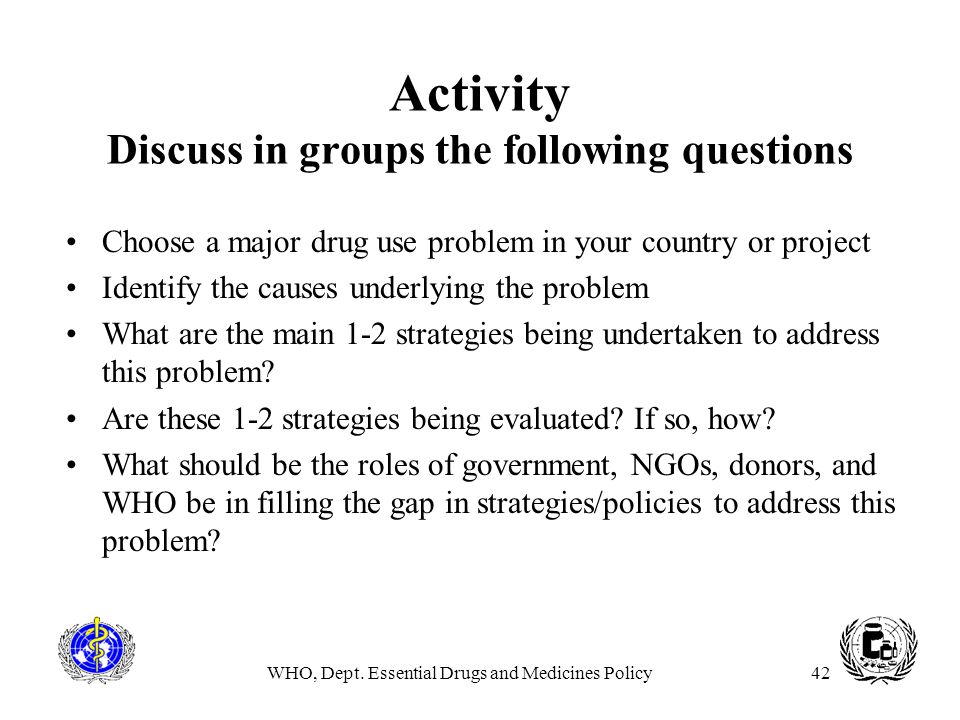 Activity Discuss in groups the following questions