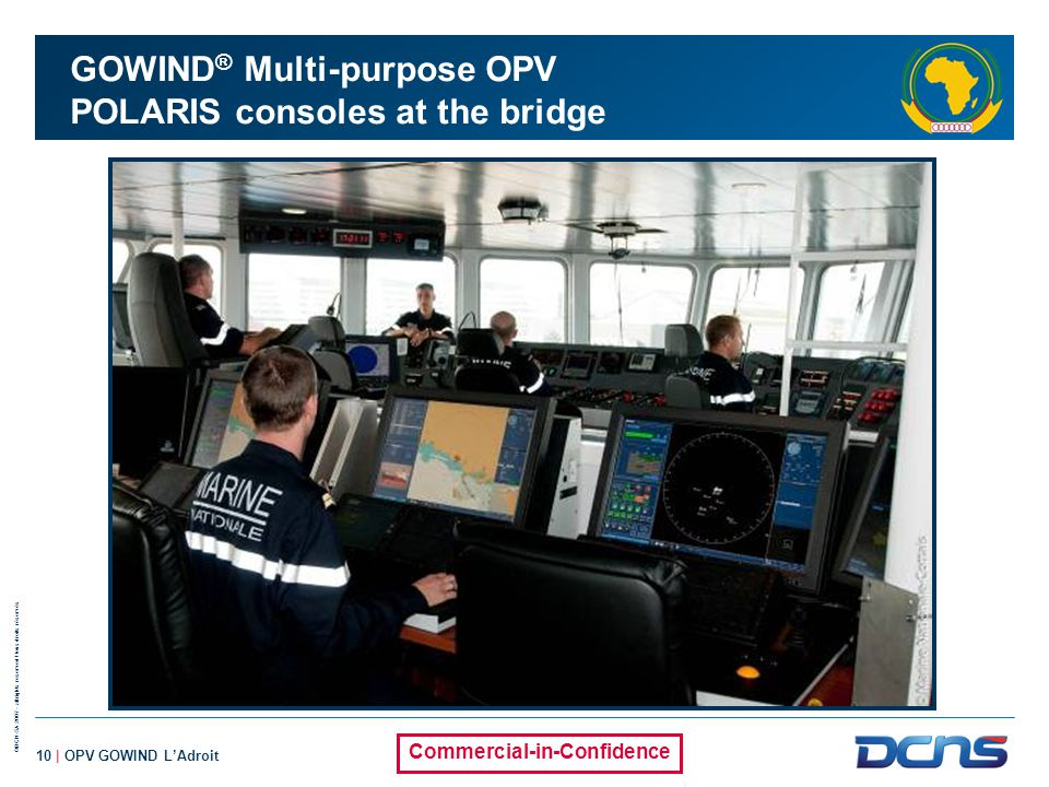 GOWIND® Multi-purpose OPV POLARIS consoles at the bridge