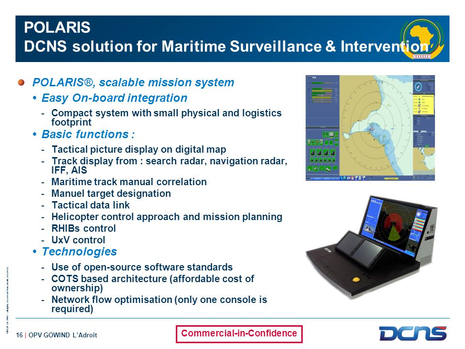 POLARIS DCNS solution for Maritime Surveillance & Intervention