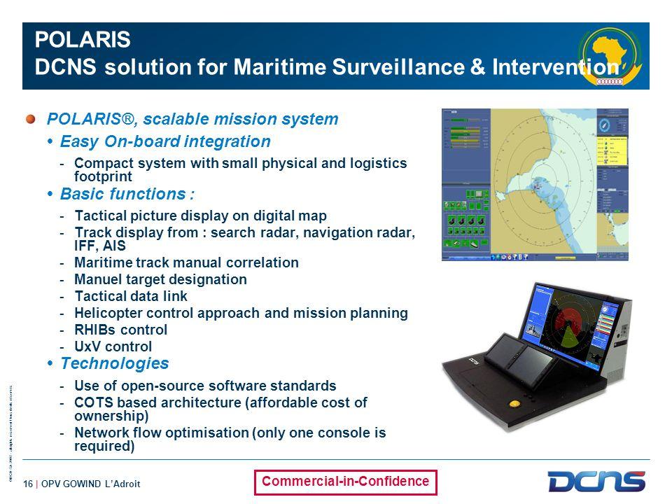 POLARIS DCNS solution for Maritime Surveillance & Intervention