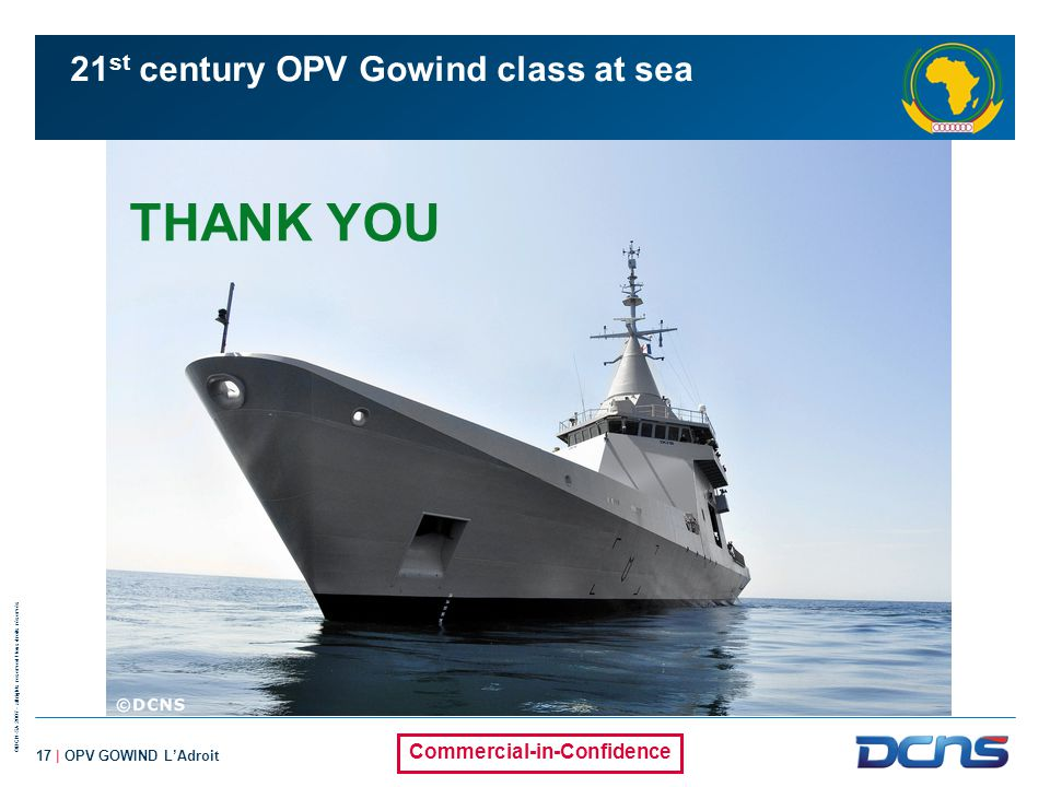 21st century OPV Gowind class at sea