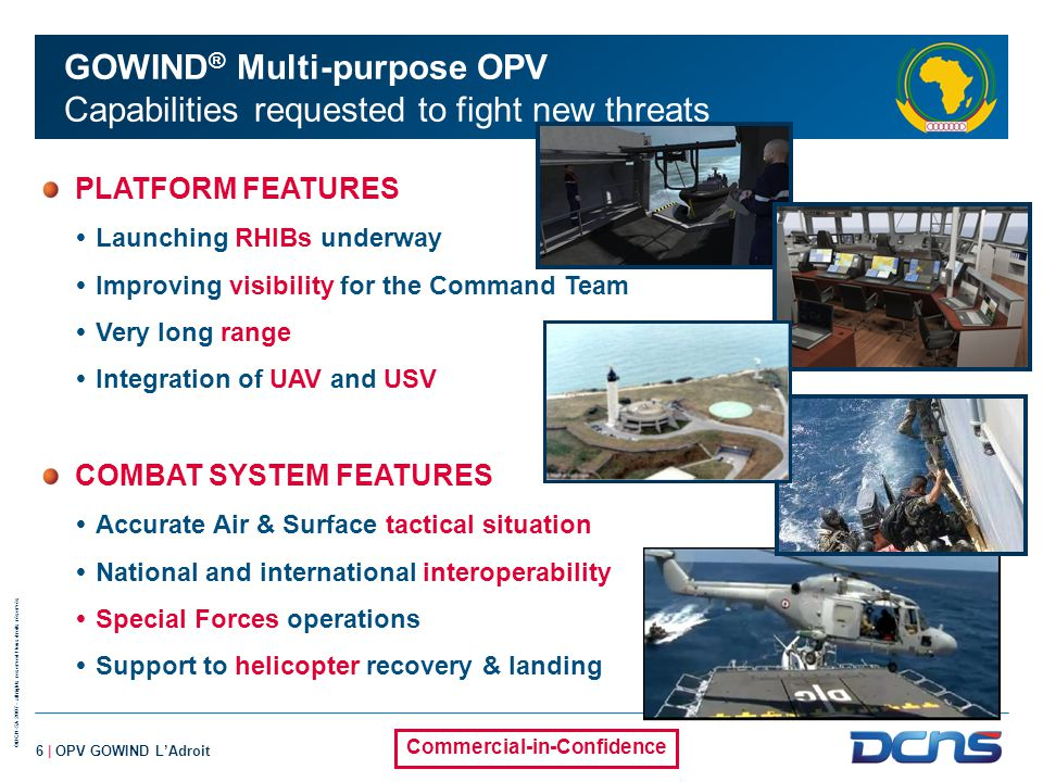 GOWIND® Multi-purpose OPV Capabilities requested to fight new threats
