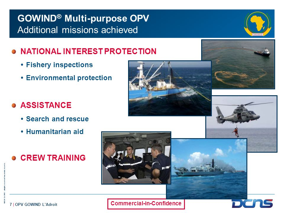GOWIND® Multi-purpose OPV Additional missions achieved