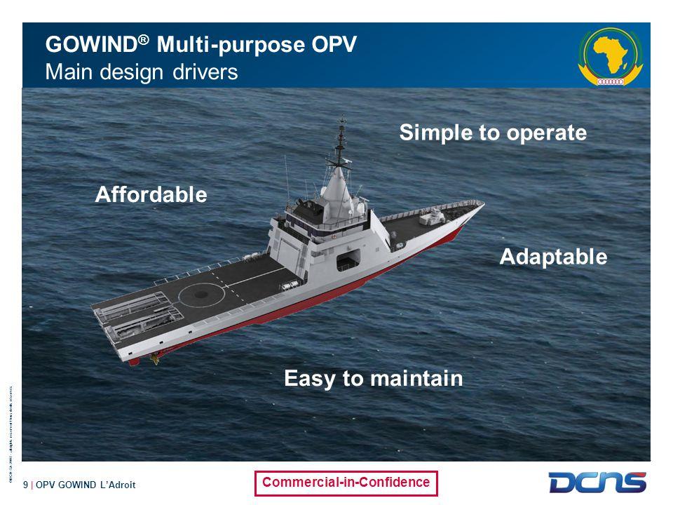 GOWIND® Multi-purpose OPV Main design drivers