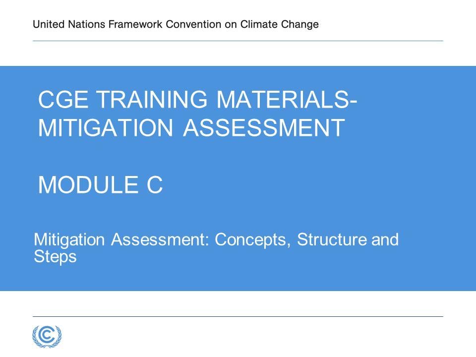CGE Training materials- Mitigation Assessment Module C