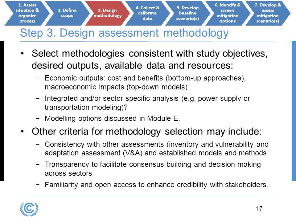 Step 3. Design assessment methodology