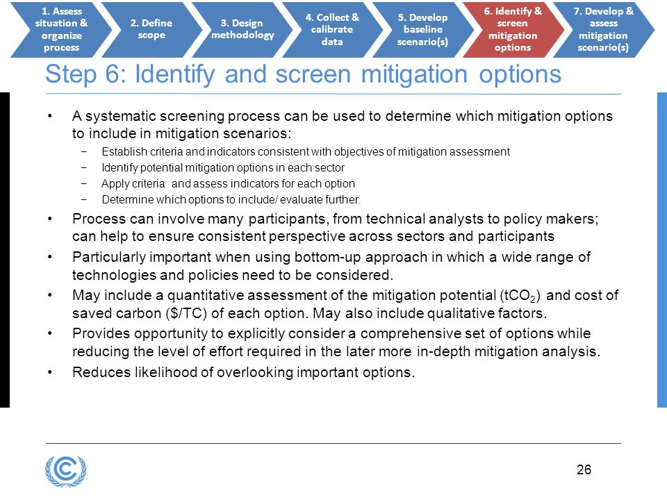 Step 6: Identify and screen mitigation options