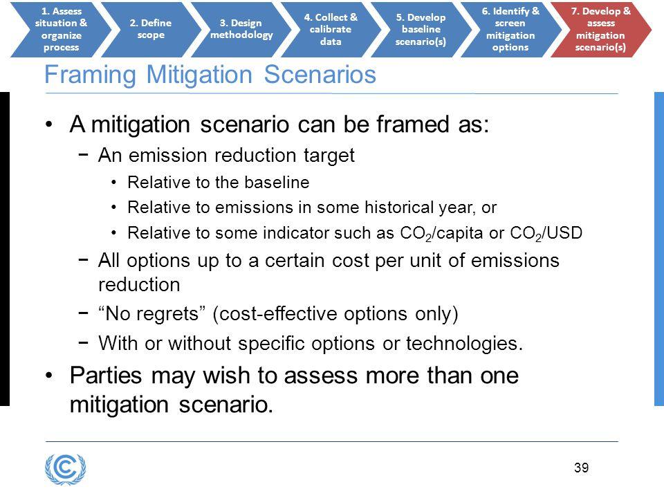 Framing Mitigation Scenarios