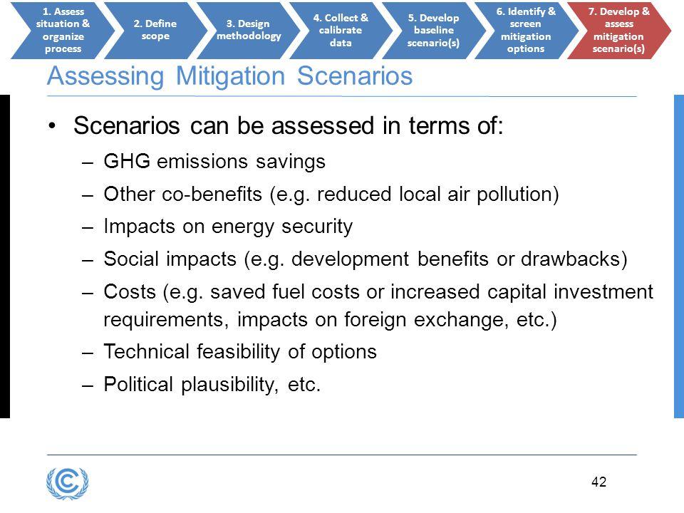 Assessing Mitigation Scenarios