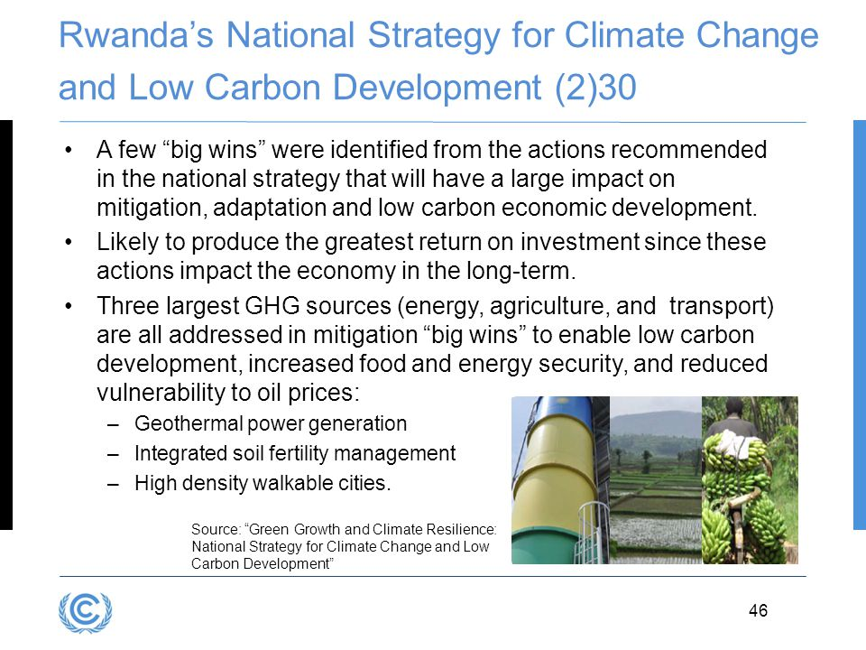 Rwanda's National Strategy for Climate Change and Low Carbon Development (2)30