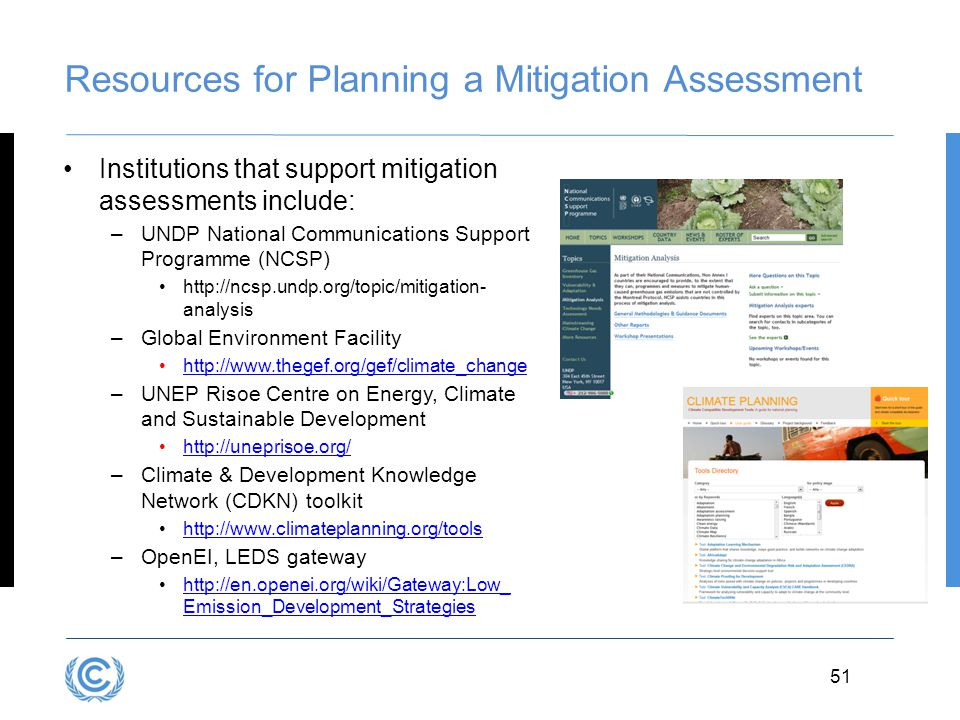 Resources for Planning a Mitigation Assessment