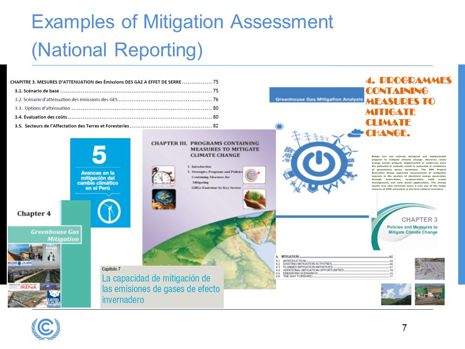 Examples of Mitigation Assessment (National Reporting)