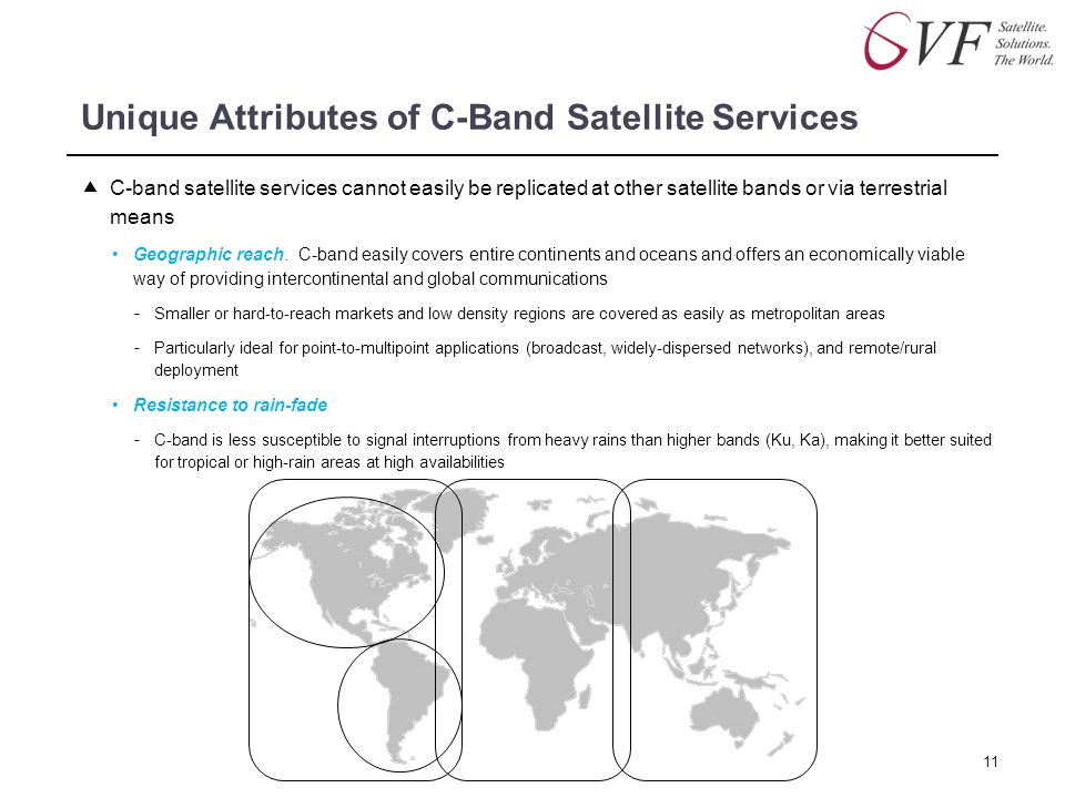 Unique Attributes of C-Band Satellite Services